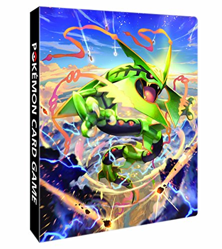 Japanese Pokemon Mega Rayquaza 4-Pocket Album (16 Pages, Binder Holds 64-128 Cards) (Pokemon Omega Ruby Card Binder compare prices)