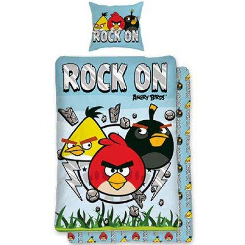 """Parure de lit housse de couette réversible Angry Birds 100% coton """" Rock """""""