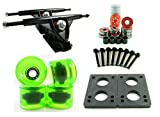 "180mm Longboard Trucks + 70mm Solid/Gel Wheels + ABEC 7 Bearings + 1/4"" Riser Pads"