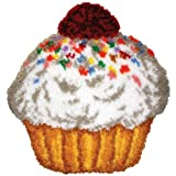 M C G Textiles 26.5 x 28-inch Cupcake Shaped Latch Hook Kit