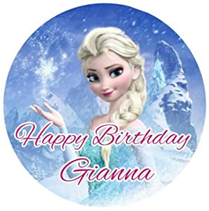 Frozen Cake Decorations Asda : Amazon.com: DISNEY FROZEN ELSA Edible Cake Toppers Edible ...