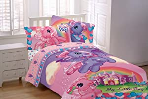 My Little Pony Bedding Set 4 Pc Twin Comforter and Sheets Horses