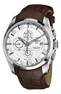 Tissot Men's T0356271603100 Couturier White Chronograph Dial Watch by Tissot