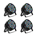 Eyourlife 4Pcs 54x3W Par LED DMX 512...