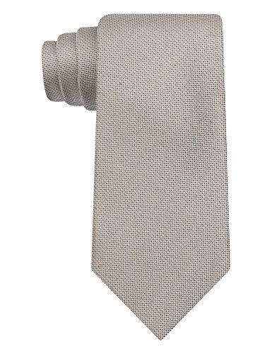 Calvin-Klein-CK-Light-Brown-Salt-Pepper-Solid-Slim-Width-Silk-Tie-Necktie