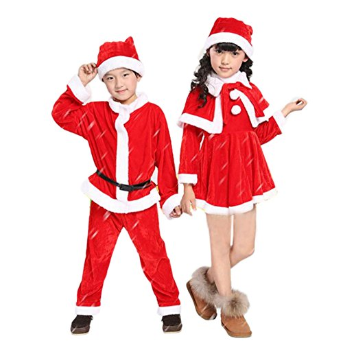 L-Asher Plush Boy Child Santa Suit Costume (51-52 inch )