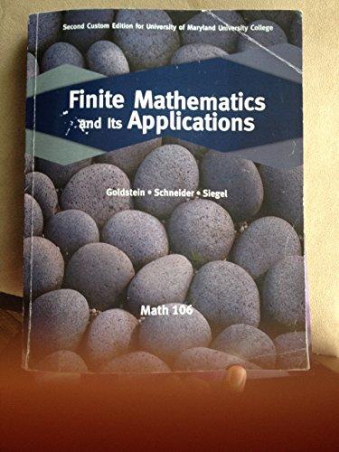 Finite Mathmatics and Its Applications (Custom for Math106 Umuc) (2) (Paperback)