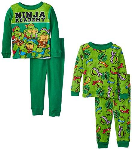 Teenage Mutant Ninja Turtles Little Boys' Ninja Academy 4-Piece Pajama Set, Green, 2T (Ninja Turtles Pajamas Set compare prices)