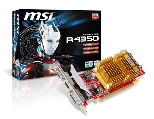 Msi Radeon Hd 4350 512mb Video Card R4350 Md512h D3