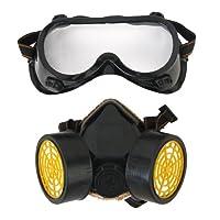 Industrie Gas chemischen Anti Staub Lackierung Atemschutzmaske + Glasses Goggles