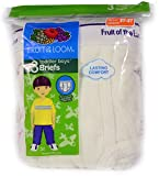 Fruit of the Loom 3 in a Pack Toddler Boy's Briefs Classic White
