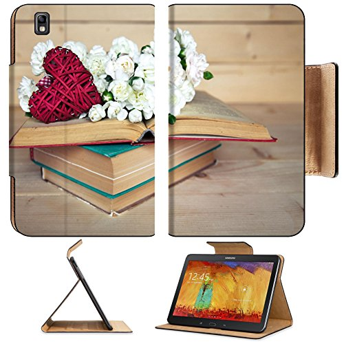Samsung Galaxy Tab Pro 8.4 Tablet Flip Case gentle carnation in the old book on a wooden background Valentine s Day IMAGE 36026715 by MSD Customized Premium Deluxe Pu Leather generation Accessories HD (Old Book Case For Samsung Tablet compare prices)