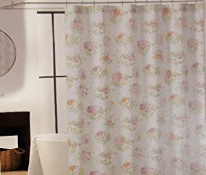 Amazon Com Shower Curtain Floral Fabric Designer Cynthia Rowley 72 Quot X 72 Quot Floral Bouquets With