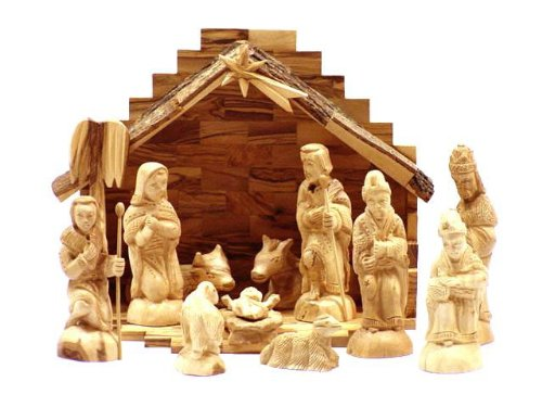 Olive Wood Nativity Set- Traditional Carving. (Nativity Set Olive Wood compare prices)