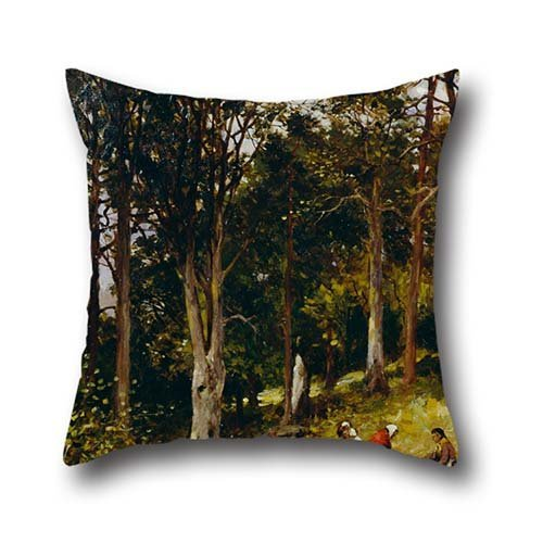 Oil Painting Brodie, Kate S. - Landscape (Four Figures In A Wood) Throw Pillow Covers 18 X 18 Inch / 45 By 45 Cm Best Choice For Family,teens,car Seat,father,wedding,car Seat With Double Sides