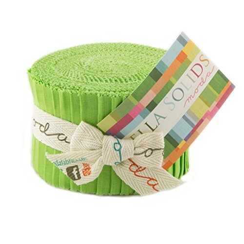 Bella Solids Lime Jr Jelly Roll (9900JJR 75) by Moda House Designer for Moda (Jelly Rolls Green compare prices)