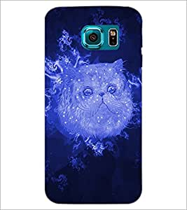 PrintDhaba Cat D-3466 Back Case Cover for SAMSUNG GALAXY S6 (Multi-Coloured)