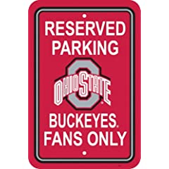 Buy NCAA Ohio State Buckeyes 12-by-18 inch Plastic Parking Sign by BSI
