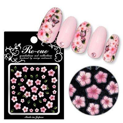 リキュウ ネイルシール FLAー1 5枚花ピンク