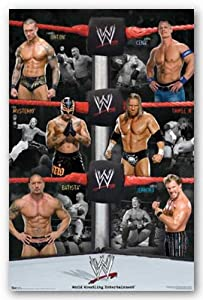 Wwe Group Poster 22X34 Cena Batista Stars 6123 Sports Poster Print, 22x34