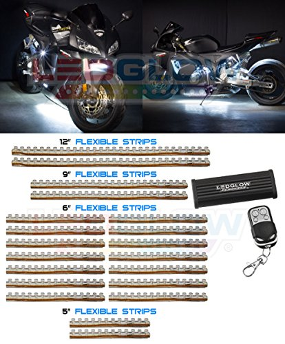 20 Piece 342 Led White Motorcycle Lighting Kit