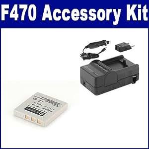 Fujifilm Finepix F470 Digital Camera Accessory Kit includes: SDNP40 Battery, SDM-142 Charger