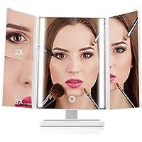 MiroPure Trifold 24-LED Lit Vanity Makeup Mirror