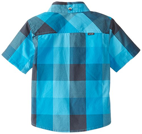 Hurley Baby Boys Short Sleeve Woven Top Blue Lagoon 12