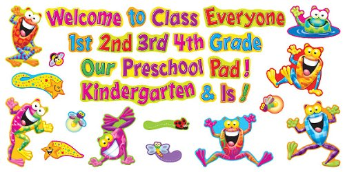 Frog-tastic! Welcome Phrases Mini Bulletin Board Set