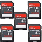 Genuine SanDisk 5 Pack Ultra 8GB SDHC Class 10/UHS-1 Flash Memory Card Speed Up To 30MB/s-200x SDSDU-008G-U46