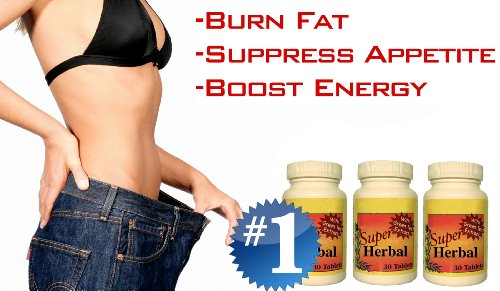 (3 Bottles) SUPER HERBAL with Hoodia - The #1 Rapid Fat Burner, Appetite Suppressant, Weight Loss Diet Pill - Lose Up to 20 POUNDS in 30 Days