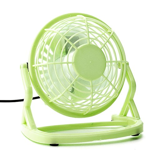 Usb Powered Plastic Electric Mini Desktop Cooling Fan For Pc /Laptop /Notebook (Green)