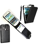 STYLEYOURMOBILE {TM} SAMSUNG GALAXY S3 III MINI i8190 VARIOUS DESIGN CARD POCKET HOLDER PU LEATHER MAGNETIC FLIP CASE COVER POUCH + FREE STYLUS