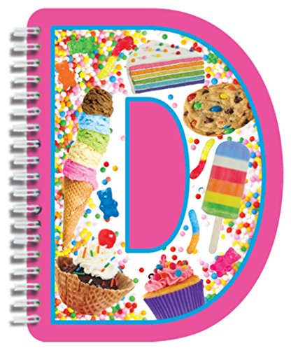 iscream Letter D Shaped Initial Notebook