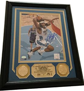 New York Knicks Denver Nuggets Carmelo Anthony Autographed Signed 8x10 Framed... by Highland Mint