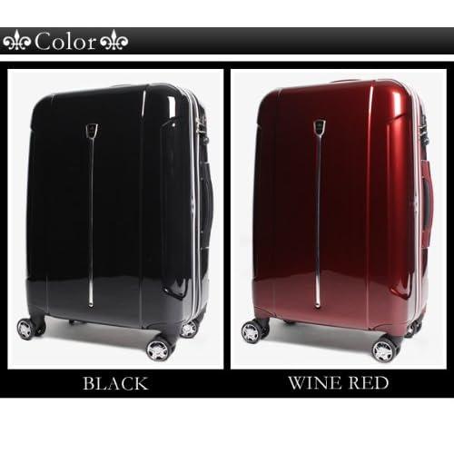 NICOLE スーツケース Mサイズ 70L 4~6泊対応 キャリーケース NC-002 WINE RED