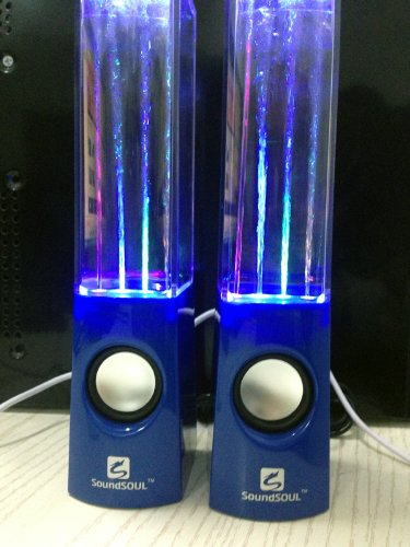 Soundsoul Music Fountain Mini Amplifier Dancing Water Speakers I-station7 Apple Speakers (Blue)