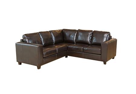 GFD Sao Luis Ivory Leather Corner Sofa