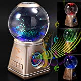 Tronfy® Fancy MR-1 (Music Rasengan) - Portable Wireless Bluetooth Magic Crystal Ball Water Dancing Speaker Luminous Colorful Dual 4 Watt Driver (Golden)