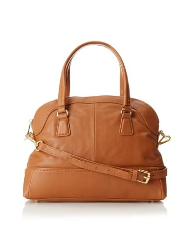Zenith Women's Penny Dome Tote with Cross-Body, Cognac