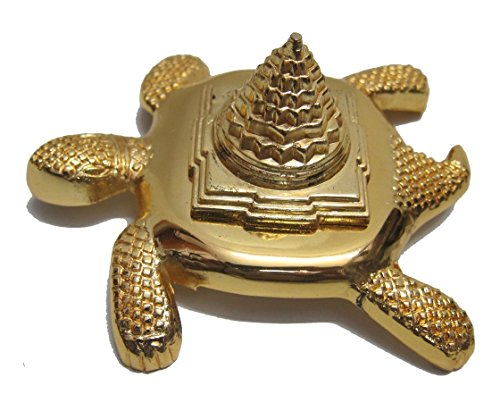 Bigfashionshop Big Brass Meru Turtle With Shree Yantra (Golden Color) 12x10 cm  available at amazon for Rs.600