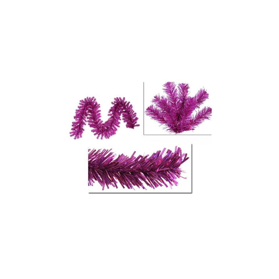 "9' x 12"" Pre Lit Fuschia Sparkling Christmas Garland   Pink Lights"