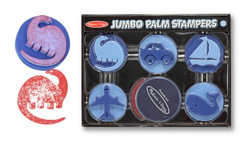 Melissa & Doug Jumbo Palm Stampers - Blue
