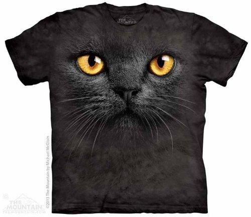 The Mountain Black Cat Face T-shirt