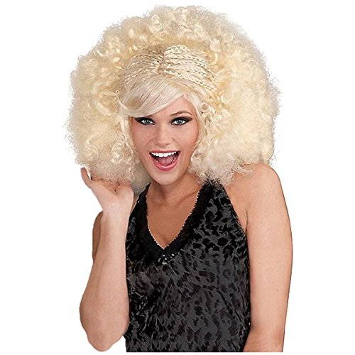GSG Funky Pop Afro Costume Accessory Adult Womens Halloween (Funky Tuxedo Adult Men Costume)
