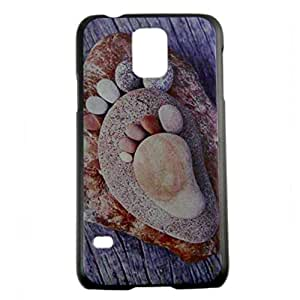 Creative Stone Pattern Printed Hard Plastic Phone Case with Shock Proof Frame For Samsung Galaxy S5 SM-G900H