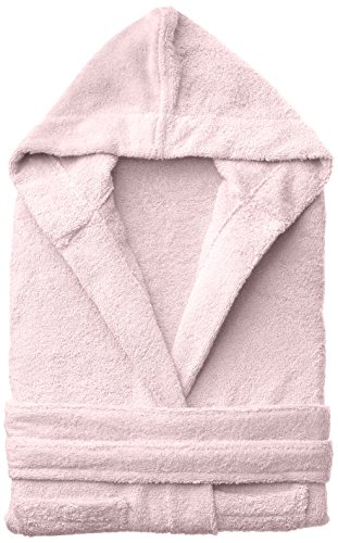 Superior Egyptian Collection Hooded Terry Bath Robe for Kids, Small/Medium, Pink