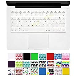 DHZ French AZERTY US Keyboard Layout Silicone Keyboard Cover Skin for Macbook 13