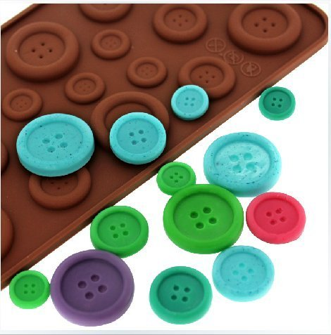 Best Buy! Luxbon Fastener Shape Candy/Ice/Cake/Chocolate/Sugar Craft Fondant Mold/Tray Silicone Deco...