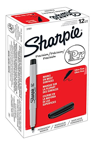 Sharpie Permanent Markers, Ultra Fine Point, Black, 12-Count (Amazon Chase Points compare prices)